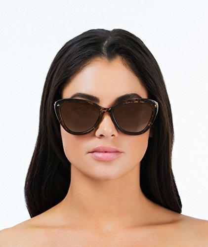 "e15cb792efdc1 Amazon.com  PRIVÉ REVAUX ICON Collection ""The Hepburn"" Designer Polarized  Retro Cat-Eye Sunglasses  Clothing"