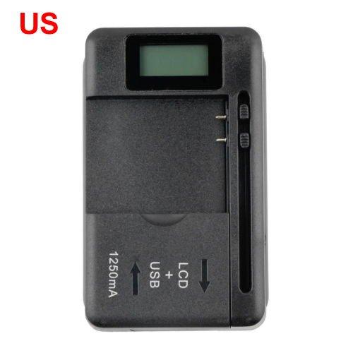 Cargador de batería universal con pantalla LCD con Indicador para teléfonos celulares 1 puerto USB,Enchufe EE.UU.