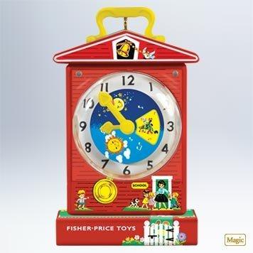 Hallmark Magic Ornament 2011 Music Box Teaching Clock - Fisher Price - #QXI2459 (Clock Fisher Price)