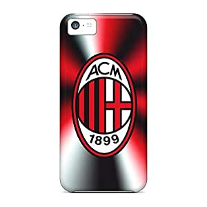 Iphone 5c Sbh5555RVhL Unique Design Trendy Ac Milan 3 Pattern Shock Absorption Hard Phone Covers -JonathanMaedel