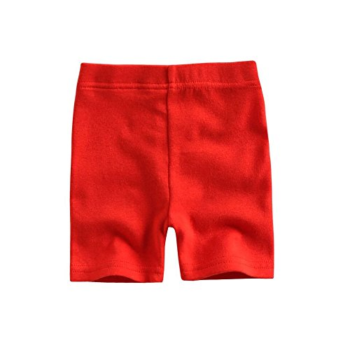 Agibaby Boys & Girls Infant & Toddler Soft/ Thin Cotton Knee Length Legging/Bike Shorts (M(2-3T), Red)