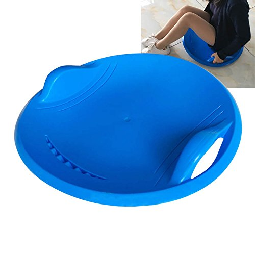 EDTara Snow Sled for Kids Adult Thicken Kids Safe Sturdy Snow Sled Saucer Disc Winter Outdoor Sport Skiing Board Blue
