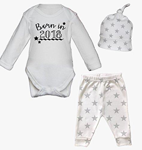 Born in 2018 newborn baby vest pants and hat set babygrow new baby born in 2018 newborn baby vest pants and hat set babygrow new baby gifts newborn baby negle Images