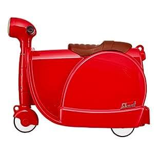 Skoot Kids' Ride-On Suitcase Equipaje Infantil, 13 litros, Color Rojo
