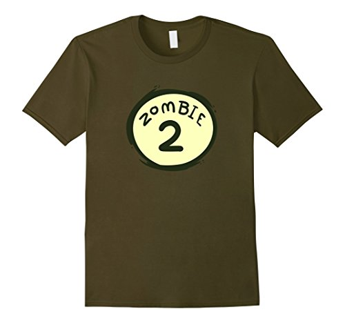 Funny 2 Man Halloween Costumes (Mens Zombie 2 Funny Couple's Halloween Costume T-Shirt XL Olive)