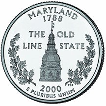 2000 D Maryland State Quarter Choice Uncirculated