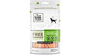 I and love and you Free Ranger No Stink! Natural Grain Free Bully Stix - Low Odor, 100% Beef Pizzle, 6-Inch, Pack of 5