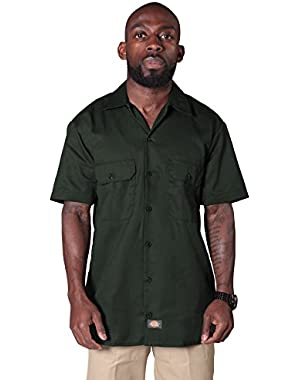 Short Sleeve Work Shirt - Olive Green Dickies1574OG Mens Classic Shirt