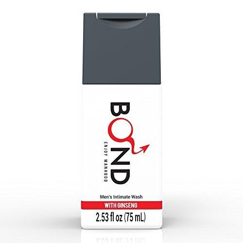 BOND Masculine Wash Mens Intimate Wash 2.5 Fl. Oz. (75mL) Hygiene Care Products for Men (Ginseng Care)