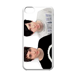 Dan and Phil,TPU Phone case for iphone5c,white