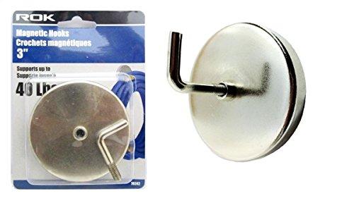 ROK 3 inch Industrial Magnetic Hooks Heavy Duty by ROK Tools