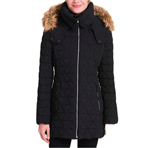 - Andrew Marc Ladies Quilted Jacket with Stretch (Black, Large)