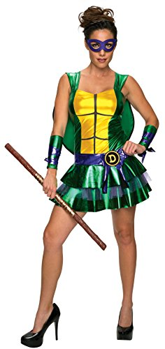 Secret Wishes Women's Teenage Mutant Ninja Turtles Donatello Costume Dress, Multi, Large (Ninja Turtles Costume For Women)