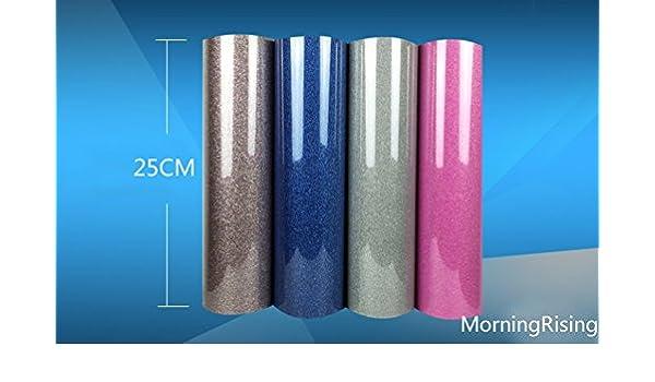morningrising Glitter transferencia de calor de vinilo película calor prensa corte Plotter de Corte por DIY camiseta 9.8 inch x 39.37 inch 25 Royal azul: Amazon.es: Juguetes y juegos