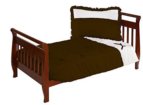Baby Doll Bedding Regal Toddler Bedding Set, Chocolate