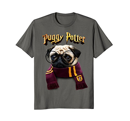 Puggy Potter magic wizard Pug Shirt - Funny Pug Tshirt