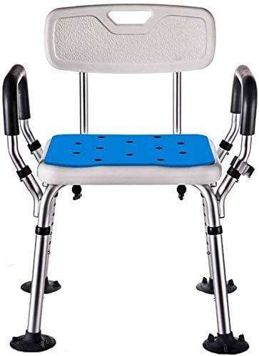 No logo TIN-YAEN Badezimmer Rollstühle, Duschstuhl höhenverstellbar for ältere Menschen Bad mit behinderter Rückenlehne und Sessel Badehilfen