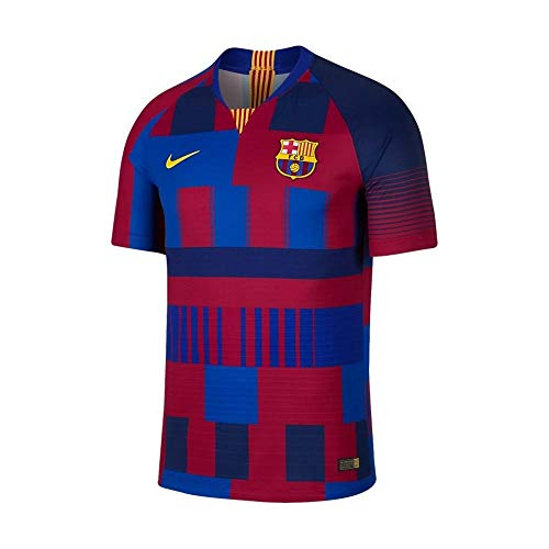 423f55f920a Nike Men s FC Barcelona Authentic 20th Anniversary Vapor Match Jersey (Deep  Royal Blue) (XL)