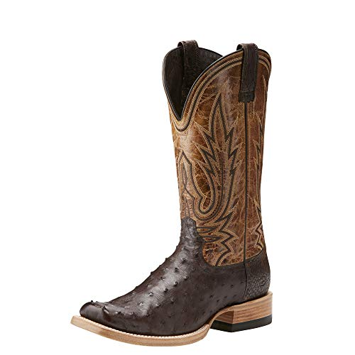 ARIAT Men's Relentless All Around Western Boot Nicotine Full Quill Ostrich Size 9 Ee/Wide Us