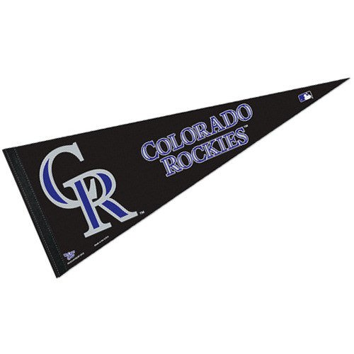(WinCraft MLB Colorado Rockies WCR45005712 Carded Classic Pennant, 12