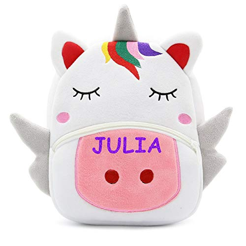Price comparison product image Personalized kids toddler backpack back pack school bag Cartoon Animal Shoulder Bags Boys Girls Cute Backpacks Schoolbags Children Baby (Unicorn)