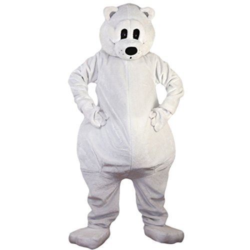 White Polar Bear Mascot Costume Cartoon Character Adult Sz Real Picture 2