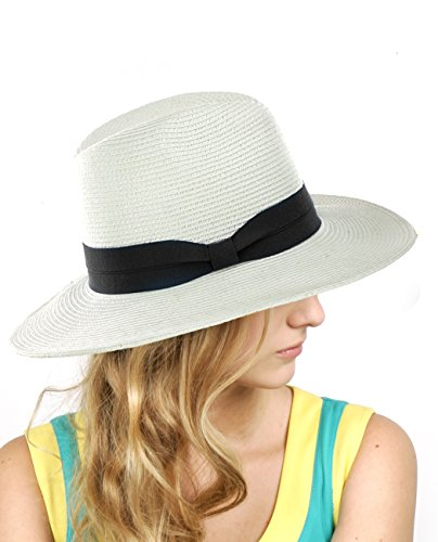 NYfashion101 Lightweight Braided Panama Fedora product image