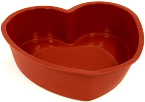 - World Cuisine Silicone Nonstick Baking Mold, Heart