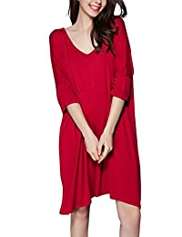 Nightshirts for Women Plus Size V-Neck Sleep Nightshirt Tee Sleepwear