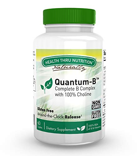 Super B-Complex Energizer with 100% Choline - Sustained Release Quantum-B™ - Complete Stress Support (60 Easy to Swallow Caplets)