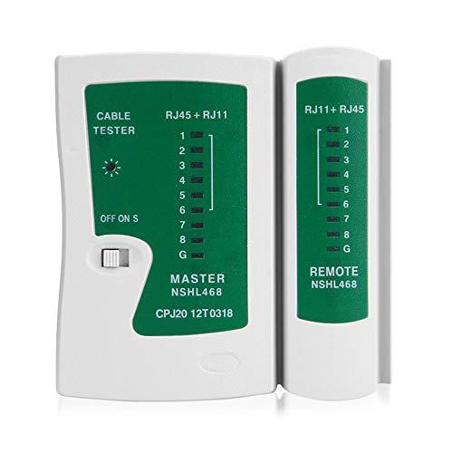 Professionelle RJ45 RJ11 Cat5 Cat6 LAN-Kabeltester Handheld-Netzwerkkabeltester Telefonleitung Detektor Tracker Tool Kit White /& Green