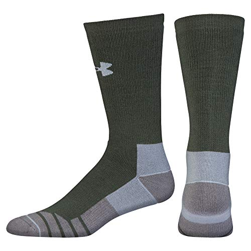 Under Armour Hitch Heavy 3.0 Boot Socks, 1-Pair, Combat Green/Steel, Large