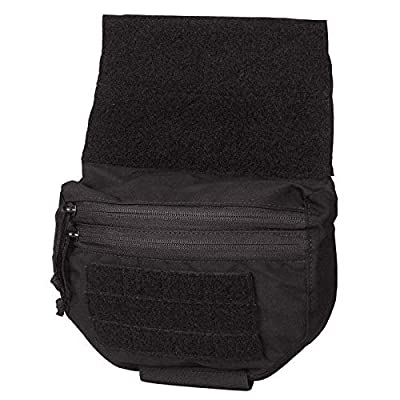 Chase Tactical Joey Utility Pouch - Lightweight, Fully Adjustable, Zipper Pockets - MOLLE Webbing - Lower Abdomen Protection - for Military, Law Enforcement, Medical, Combat Training - Unisex
