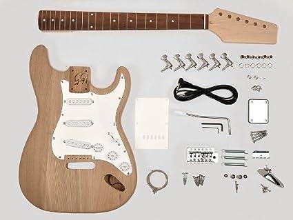 /Stratocaster Stratocaster guitarra Style montar – Madera de Fresno Body – 21 trastes – Bolt