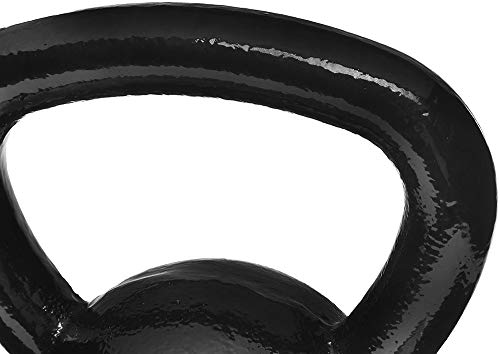 AmazonBasics Enamel Coated Cast Iron Kettlebell 2021 June Kettlebell supports a wide range of strength & resistance-training exercises Made of solid high-quality cast iron for reliable built-to-last strength Enamel finish for added protection and an attractive shiny appearance