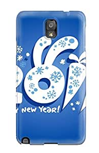 New Fashion Premium Tpu Case Cover For Galaxy Note 3 - 2011 New Year Wishes