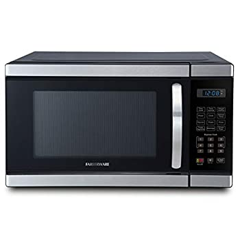 Image of Farberware Professional FMO11AHTBKL 1.1 Cu. Ft. 1000-Watt Microwave Oven with Blue LED Lighting, Brushed Stainless Steel
