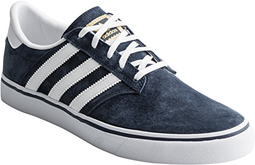 Adidas Originali Mens Seeley Premiere Fashion Sneaker Collegiate Navy / Bianco / Bianco