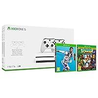 Xbox One S 1TB Two-Controller console + FIFA 19 + Crash Bandicoot