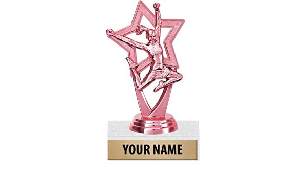 amazon com crown awards cheerleading trophy 5 pink cheer star