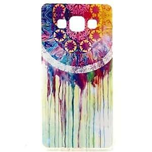 GDW Teléfono Móvil Samsung - Cobertor Posterior - Gráfico/Puntos Redondos/Dibujos Animados/Diseño Especial - para Samsung Galaxia A7 ( Multi-color , TPU )