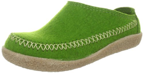 Haflinger - Zapatillas de casa de fieltro para mujer, color verde, talla 36