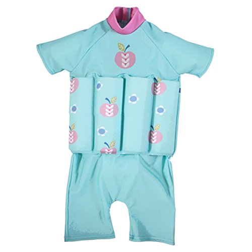 Splash About Collections UV (SPF50+) Sun Protection Float Suit with Adjustable Buoyancy (Apple Daisy, 2-4 years (Chest: 56cm | Length: 40cm))