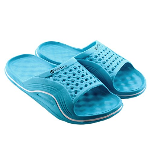 Vertico Slide-on Women's Shower and Poolside Sandal (5/6, Light Blue)