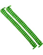 FootMatters No Tye Shoelaces Elastic Curly Stretchy For Kids and Adults - Green - 1 Pair