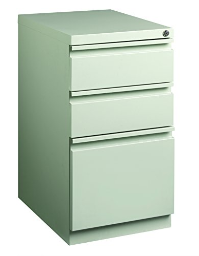 Pro Series Three Drawer Mobile Pedestal File Cabinet, Light Gray, 20 inches deep (22284) ()