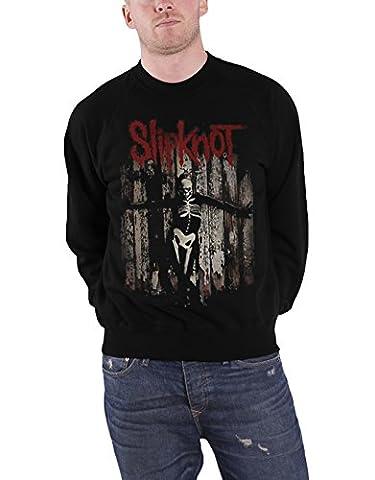 Slipknot Sweatshirt The Gray Chapter Album Cover Logo Official Mens Black (Slipknot Jacket Women)