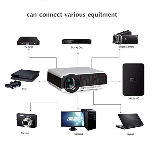 KAIDILA Proyector, Android4.4 HD LED WiFi Smart 230W de proyector ...