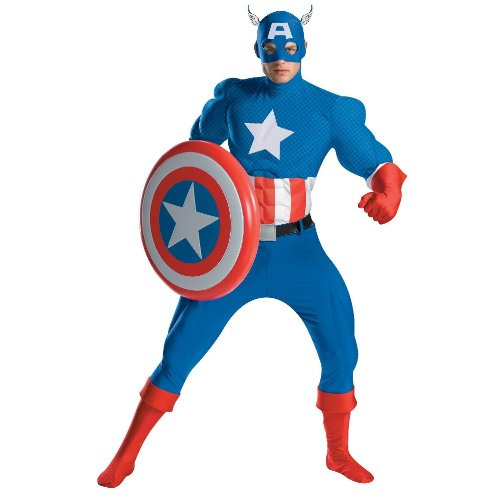 Captain America Rental Costume - X-Large - Chest Size 42-46