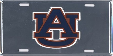 University of Auburn Tigers War Eagle Embossed Vanity Metal Chrome Novelty License Plate Tag Sign 50064 (Auburn Tigers Chrome License Plate)
